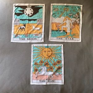 Bundle of 3 Tarot Flag Tapestries